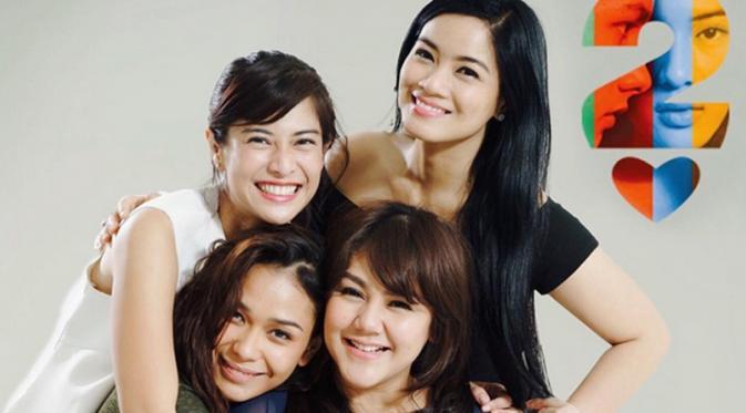 Titi Kamal bersama Dian Sastro, Sissy Priscillia, Adinia Wirasti (Instagram)