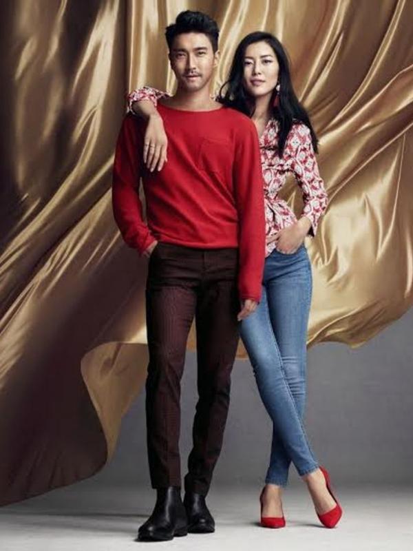 Siwon Choi dan Liu Wen dalam koleksi terbaru H&M.