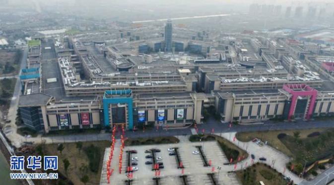 Bukan hanya sejumlah barang elektronik yang ditiru, gedung Pentagon juga ada tiruannya.(Sumber Xinhua via Shanghaiist.com)