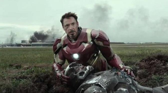Robert Downey Jr. sebagai Iron Man dalam Captain America: Civil War. (Marvel Studios)