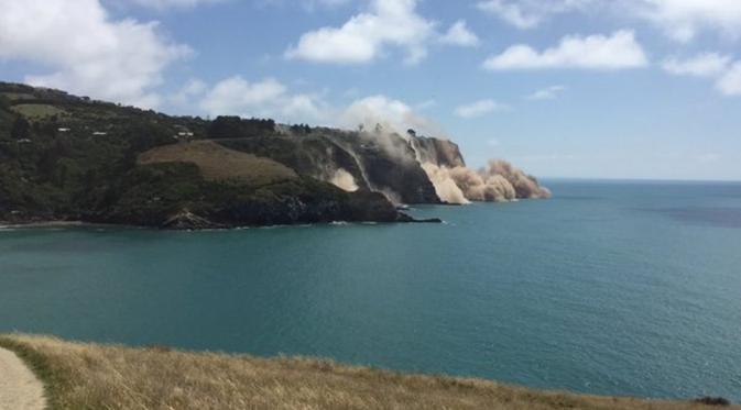 Gempa Landa Selandia Baru, Puluhan Terluka dan Tebing Runtuh (Thomas Wieberneit)