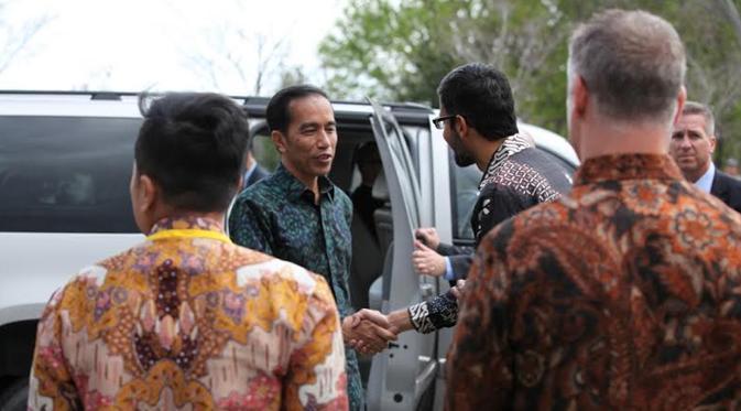 Kehadiran Presiden Joko Widodo disambut langsung oleh CEO Google Sundar Pichai (Google Indonesia)