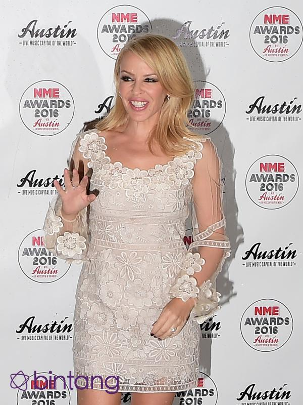 Kylie Minogue di NME Awards (AFP/Bintang.com)