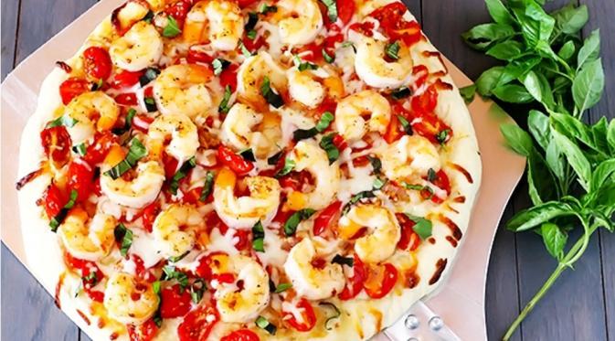 Shrimp fra diavaki pizza| Via: pinterest.com