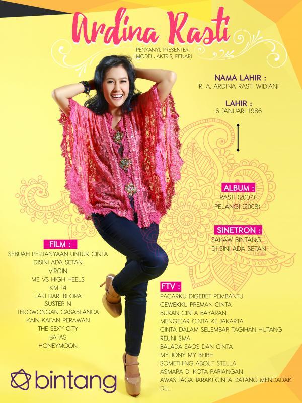 Celeb Bio Ardina Rasti (Fotografer: Galih W. Satria, Desain: Muhammad Iqbal Nurfajri/bintang.com )