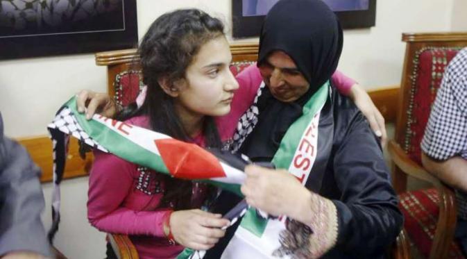 Dima al-Wawi (12) menjadi perempuan Palestina termuda yang ditahan Israel (Reuters)