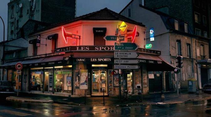 Foto Ini Abadikan Kafe di Paris Sebelum Mereka Menghilang. Sumber : mymodernmet.com