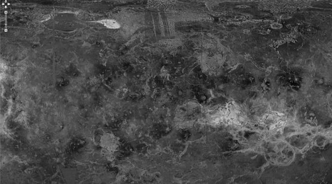 Wilayah Venus yang diklaim memiliki struktur-struktur aneh. (dailymail)