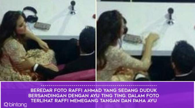 Raffi Ahmad, Nagita Slavina, dan Ayu Ting Ting (Foto: Bintang Pictures, Desain: Muhammad Iqbal Nurfajri)