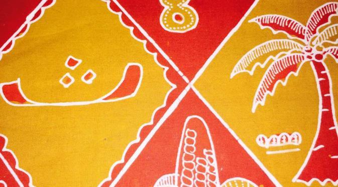 Batik Hijaiyyah motif sinuwun manggar asem (Edhie Prayitno Ige/Liputan6.com)