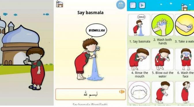 Aplikasi Muslim Kids Series: Wudu (sumber: googleplaystore.com)