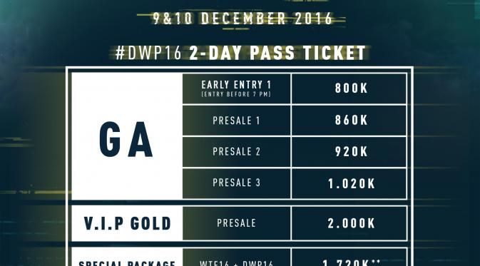 Inilah Harga Tiket Djakarta Warehouse Project Dwp 2016 News Entertainment Fimela Com