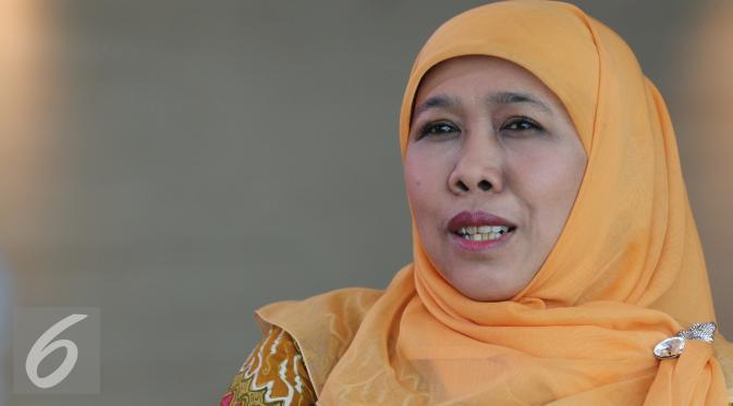 Menteri Sosial Khofifah Indar Parawansa. (Liputan6.com/Herman Zakharia)