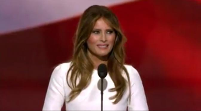 Beberapa aspek dalam pidato Melania terdengar sama dengan yang pernah diucapkan oleh Michelle Obama pada konvensi Obama pada 2008