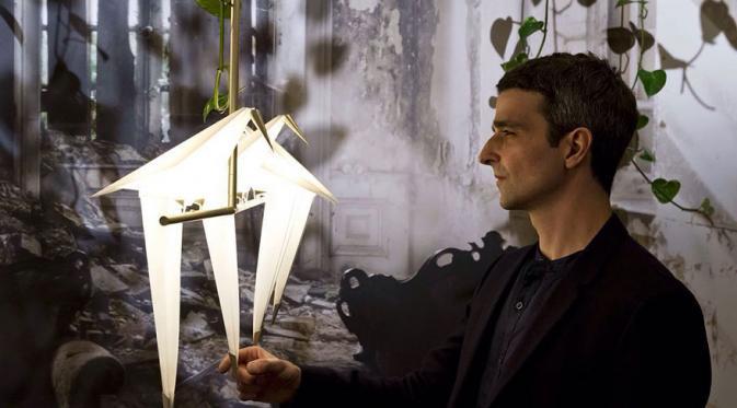 Lampu origami burung buatan Umut Yamac. (Via: boredpanda.com)