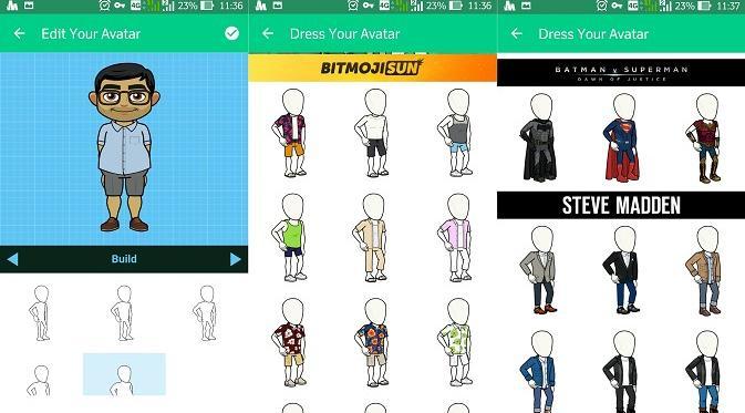 Memilih tipe tubuh dan desain pakaian yang ingin digunakan pada avatar (liputan6.com/ Agustinus M. Damar)