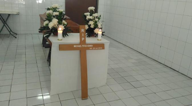 Jenazah terpidana mati Michael Titus Igweh. (Liputan6.com/Muslim AR)