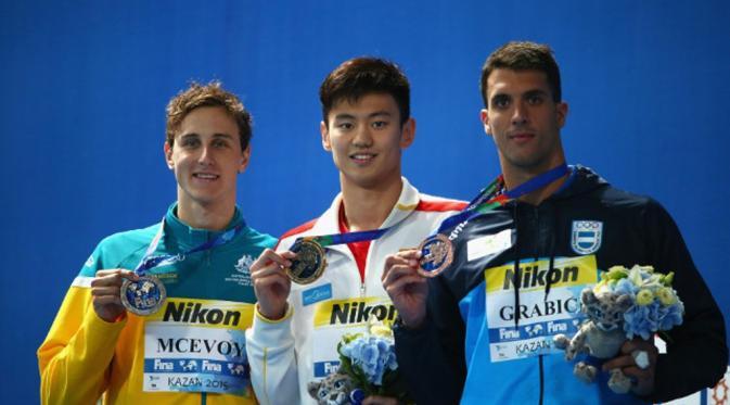 Zetao menjuarai kompetisi renang Aquatics World Champion di Rusia (Shanghaiist.com)