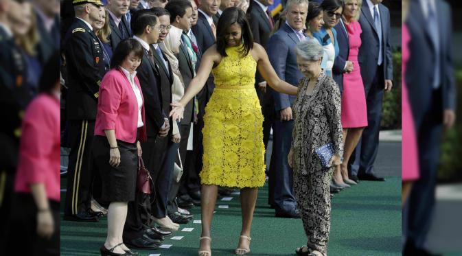 Ho Ching, Ibu Negara Singapura di Gedung Putih Amerika Serikat. (Reuters)