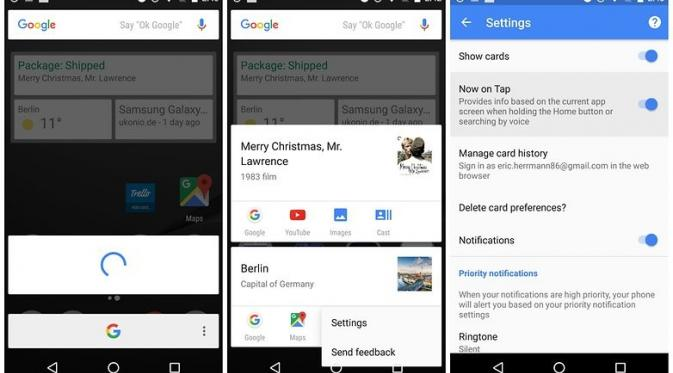 Setting Google Now on Tap (Sumber: Android Pit)