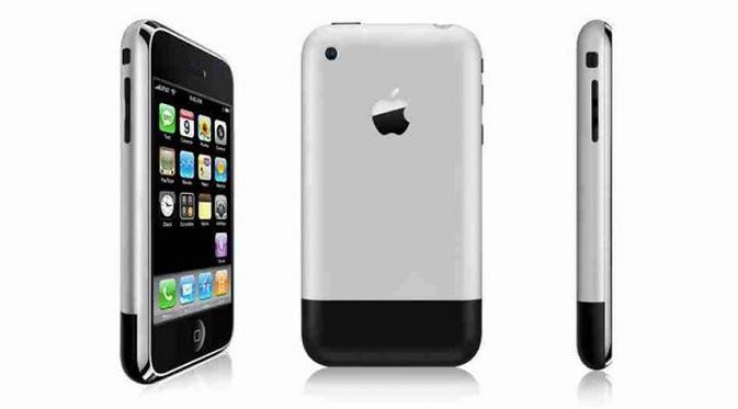 Ini adalah tampilan iPhone perdana yang diperkenalkan tahun 2007