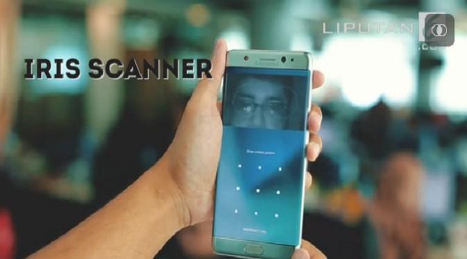 Fitur Iris Scanner di Samsung Galaxy Note 7. Liputan6.com/Jeko Iqbal Reza