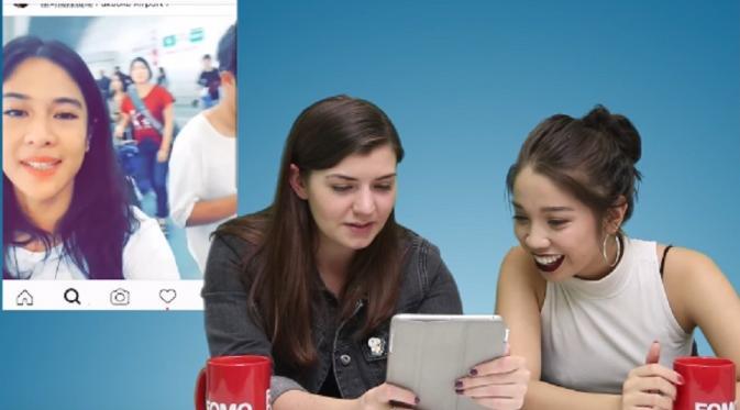 Reaksi remaja Amerika Serikat saat melihat Dian Sastro (Source: YouTube)