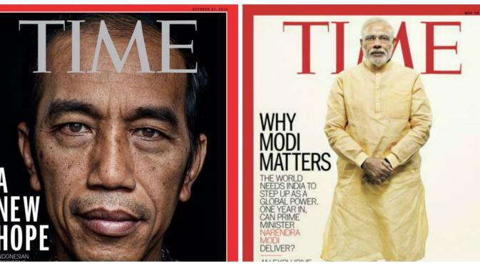 Kemiripan Presiden Jokowi dan PM Narendra Modi  (Time)