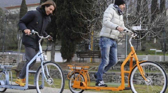 Sepeda Lopifit ini memadukan kenyamanan treadmill dan kecepatan sepeda (foto : odditycentral.com)