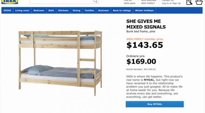 Tempat tidur tingkat. (Via: boredpanda.com)
