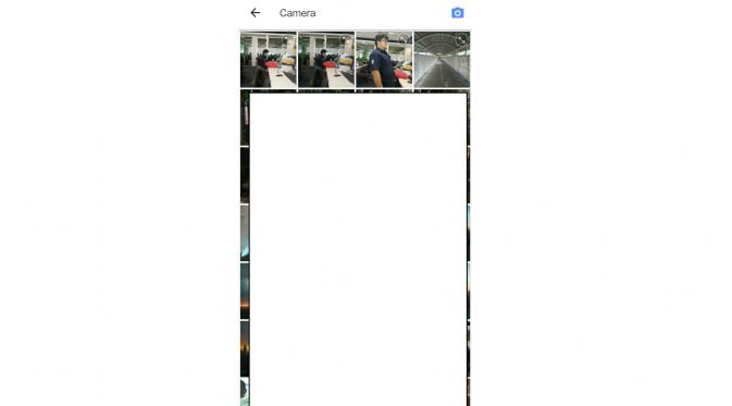 Memilih foto di melalui aplikasi Meitu