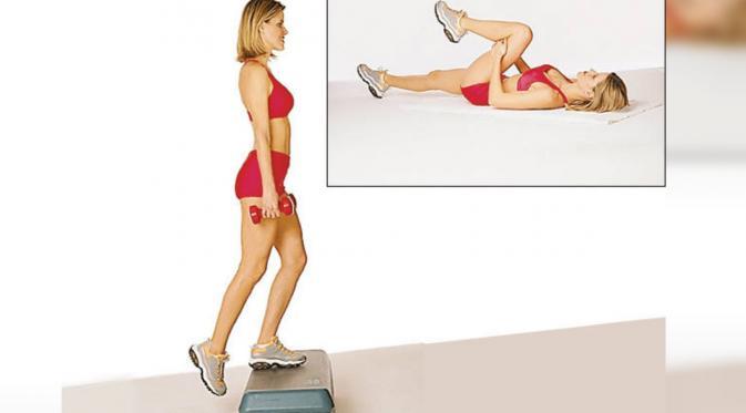 Rutin melakukan gerakan olahraga tertentu bisa secara alami hilangkan selulit. (sumber: Prevention)
