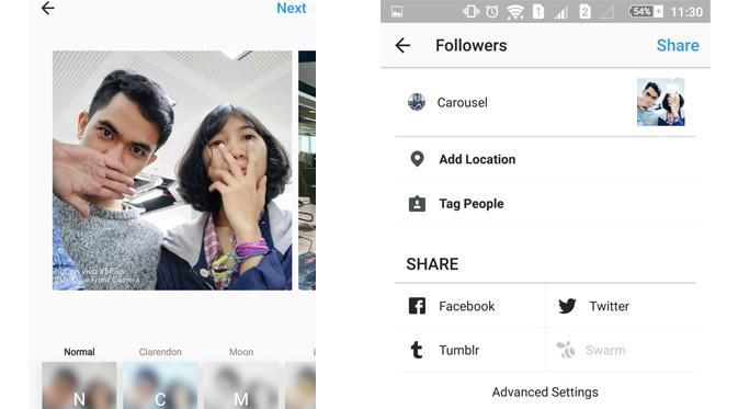 Pengguna Instagram kini mem-posting sejumlah foto dan video sekaligus, yang kemudian akan tampil dalam bentuk slideshow (Foto: Ist)