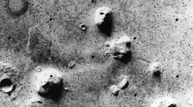 Penampakan wajah di Mars
