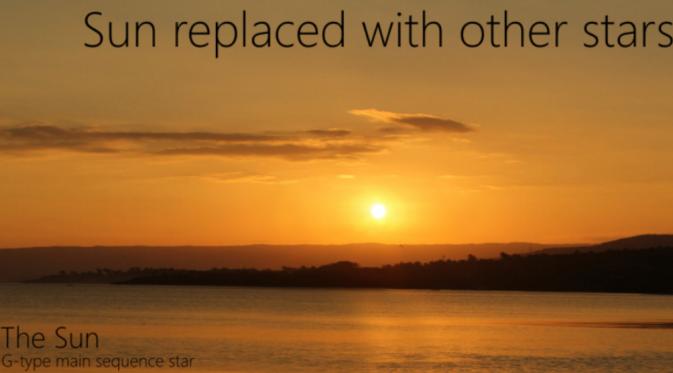 Seandainya Bukan Matahari Yang Menyinari Bumi Global