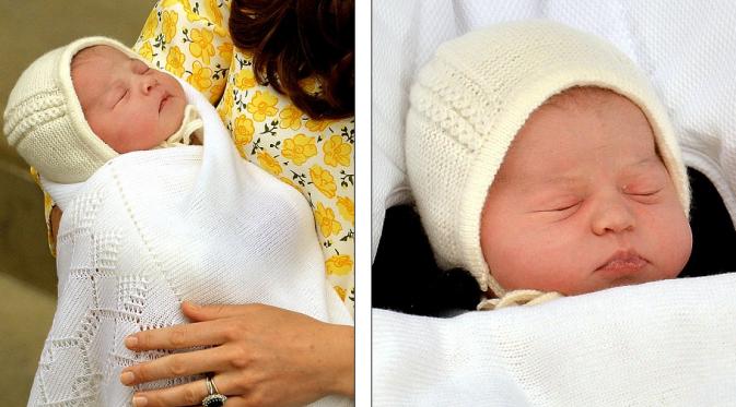Kate Middleton dan anak keduanya (Foto: Daily Mail)