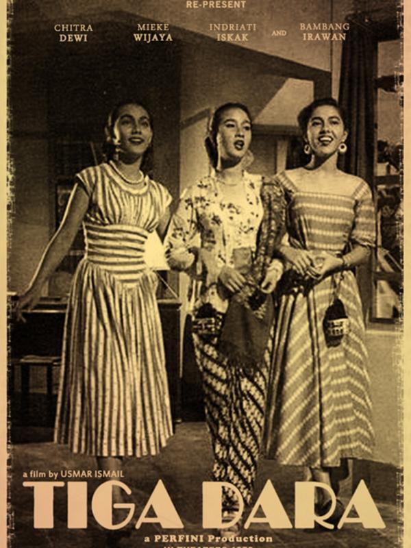 Film musikal pertama, Tiga Dara. Foto: via crimsonstrawberry.wordpress.com