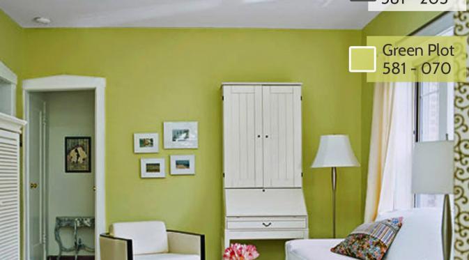 Kombinasi Warna Cat Rumah Hijau Tua  4 alternatif tema warna untuk interior rumah minimalis