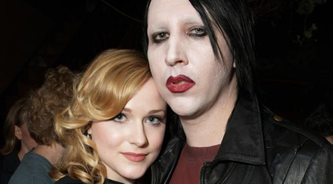 Marilyn Manson dan Evan Rachel Wood (Facebook)
