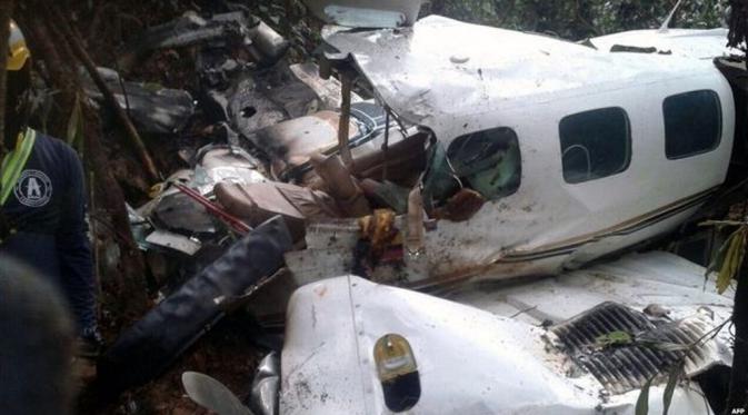 Pesawat yang jatuh di Kolombia. (BBC)