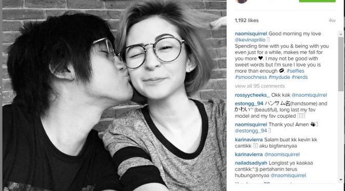 Kevin Aprilio - Naomi Lee (via Instagram Naomi Lee)