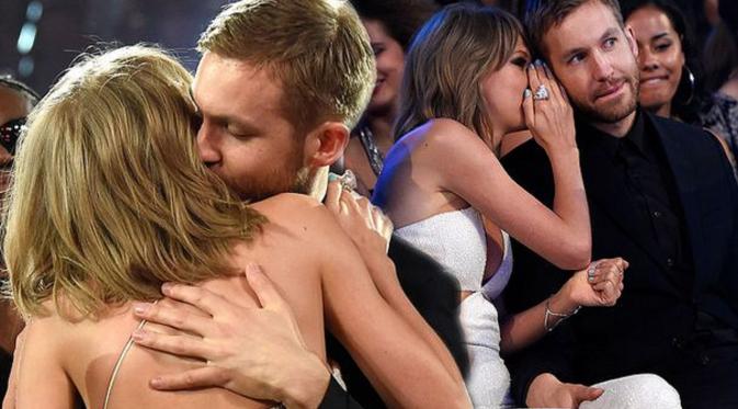 Calvin Harris dan mantan kekasihnya, Taylor Swift [Foto; Mirror.co.uk]