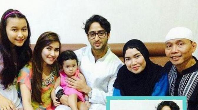 Shaheer Sheikh foto bersama dengan keluarga Ayu Ting Ting  (Twitter)