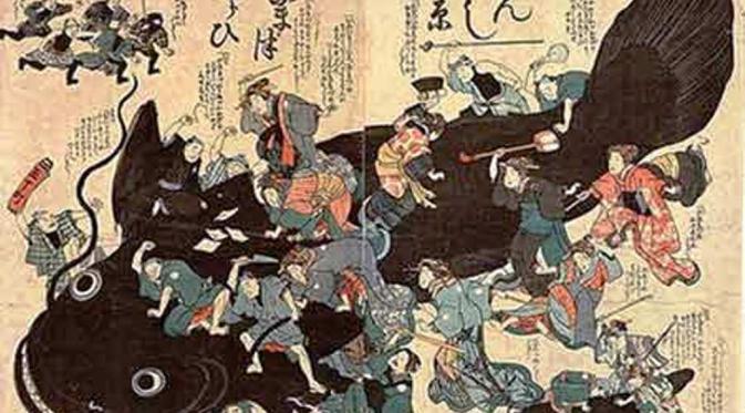 Namazu, lele raksasa dalam mitologi Jepang (Japan Times)