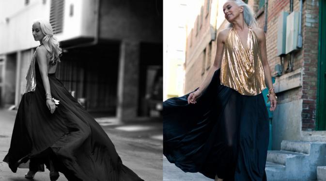 Yasmina Rossi, Nenek Berusia 59 Tahun yang Sukses Jadi Model | via: imutemagazine.com